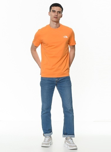 The North Face Simple Dome Erkek T-Shirt Turuncu Oranj